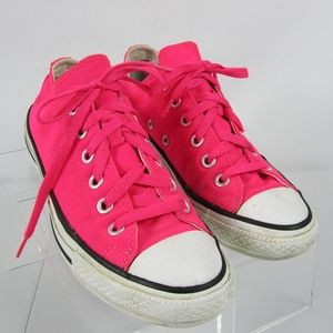 CONVERSE All Star LOW Top SNEAKERS Neon Pink Sz 7